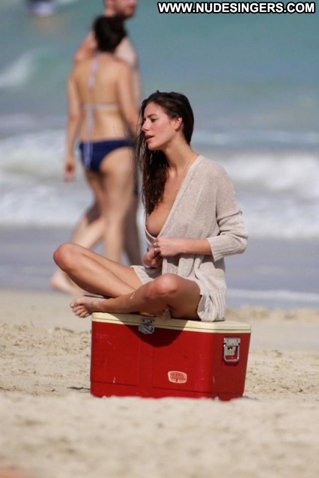 Alejandra Guilmant The Beach Model Posing Hot Beach Topless Beautiful