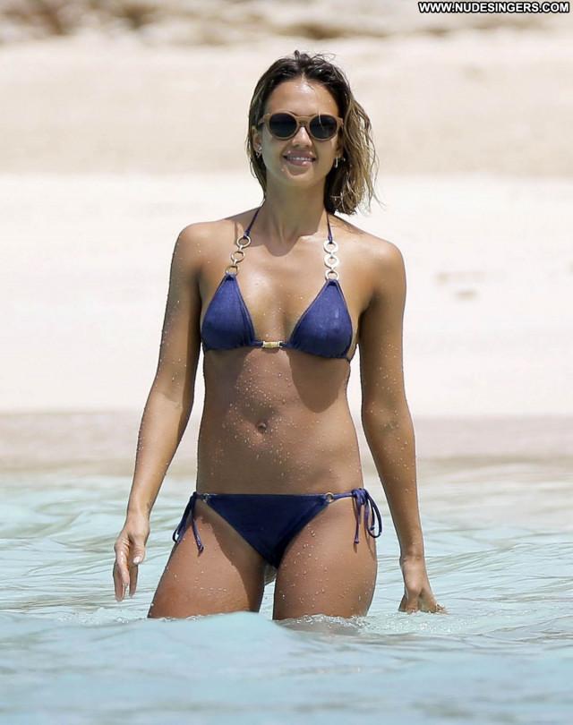 Jessica Alba No Source Beach Babe Bikini Sexy Posing Hot Beautiful