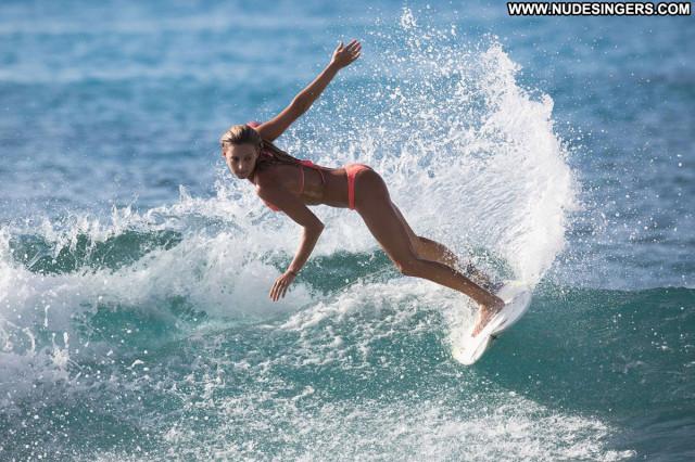 Chelsea Tuach No Source  Posing Hot Babe Bikini Orange Beautiful