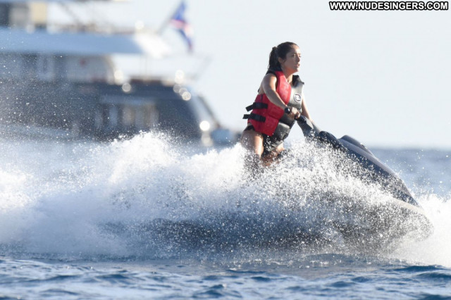 Salma Hayek No Source Bikini Babe Celebrity Beautiful Posing Hot Yacht