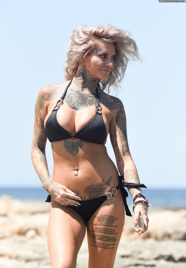 Jemma Lucy No Source Babe Celebrity Bikini Posing Hot British Black