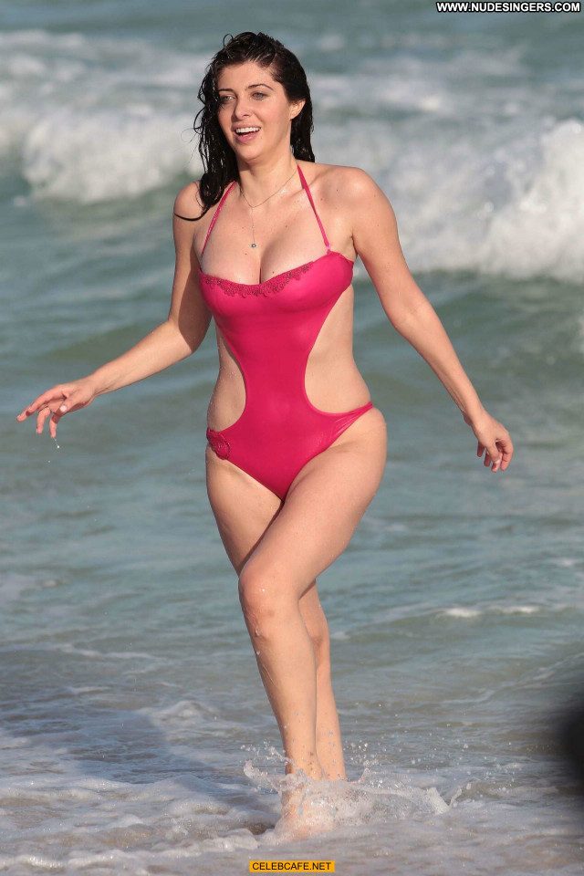 Brittny Gastineau Miami Beach Posing Hot Babe Celebrity Swimsuit