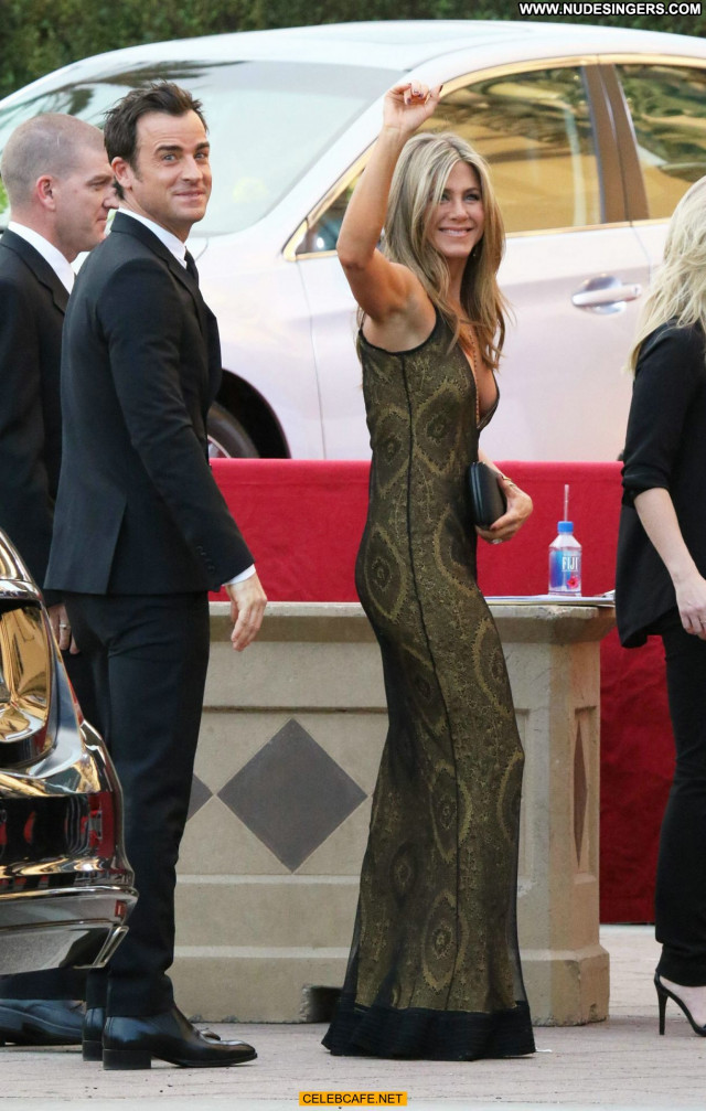 Jennifer Aniston No Source  Cleavage Awards Babe Sex Posing Hot