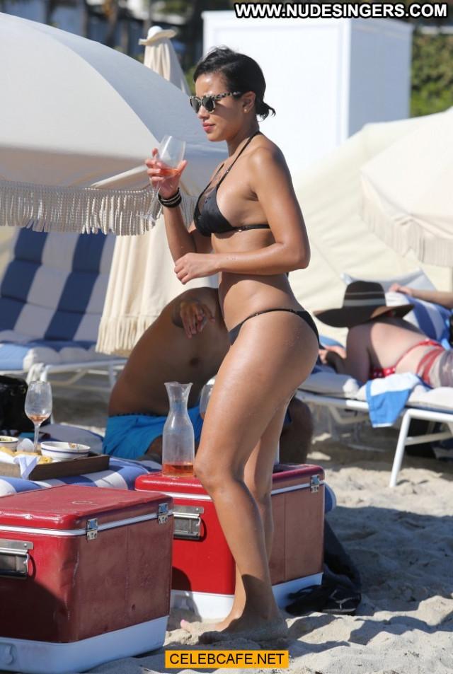 Julissa Bermudez No Source Posing Hot Sex Celebrity Black Bikini Babe