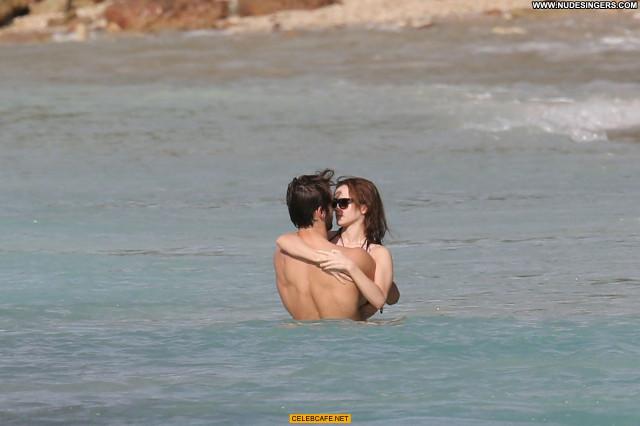 Emma Watson The Beach Beautiful Car Beach Celebrity Posing Hot Babe