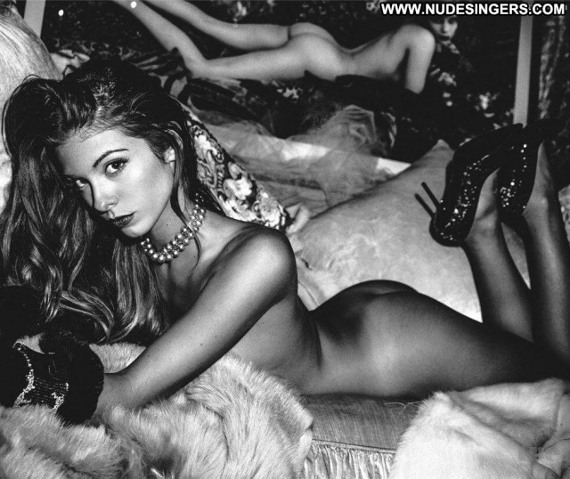 Carmella Rose Black And White Topless Beautiful Posing Hot Black