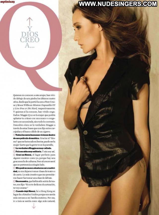 Maggie Q Esquire Magazine Posing Hot Mexico Paparazzi Celebrity Babe