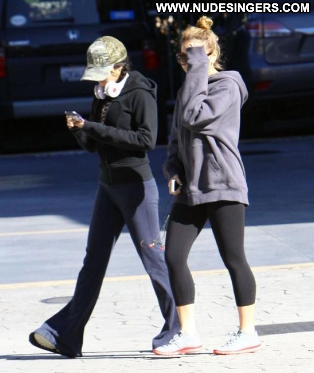 Vanessa Hudgens Studio City Beautiful Celebrity Paparazzi Gym Babe