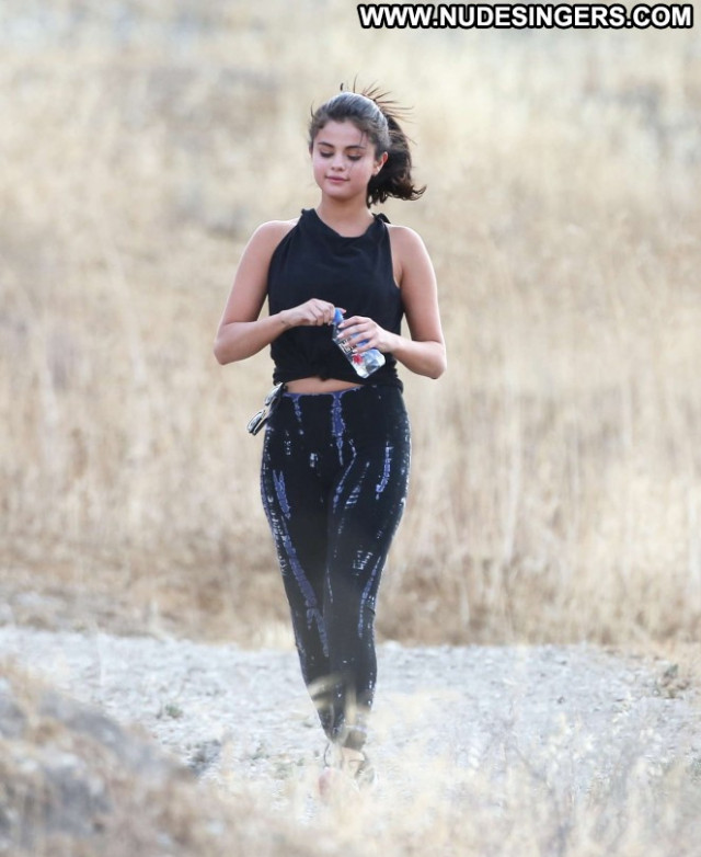 Selena Gomez Celebrity Babe Beautiful Spa Hollywood Spandex Posing