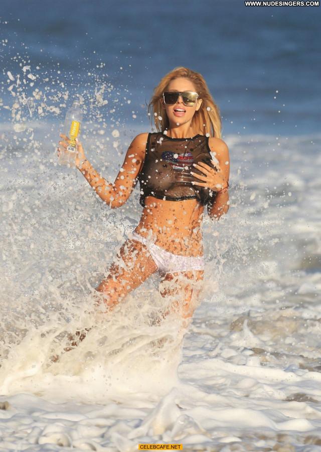 Francesca Larrain The Beach Posing Hot Beach See Through Photoshoot