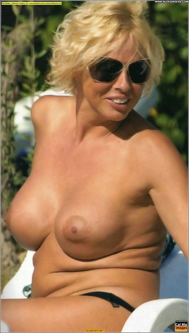 Ela Weber No Source Topless Babe Beach Posing Hot Celebrity Toples