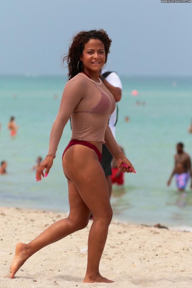 Christina Milian The Beach Posing Hot Sex Twitter Beach Sexy Actress