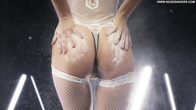 Sara Sampaio Topless Photoshoot Celebrity Black See Through Lingerie