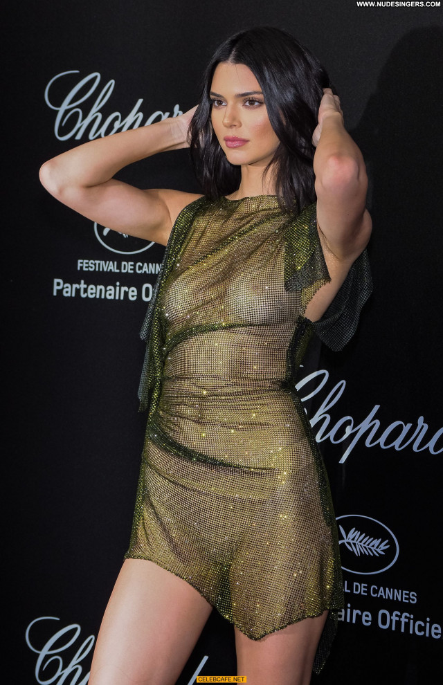 Kendall Jenner Cannes Film Festival Beautiful Tits Babe See Through