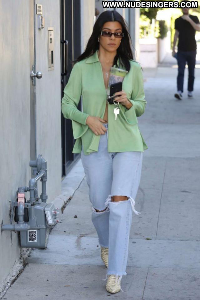 Kourtney Kardashia West Hollywood Babe Celebrity Jeans Hollywood