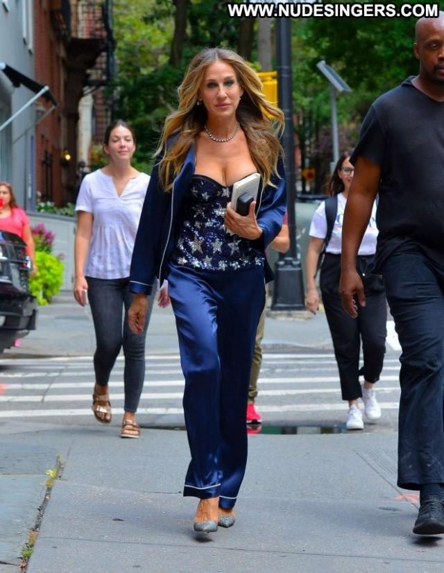 Sarah New York Park Paparazzi Posing Hot Celebrity Beautiful Babe New