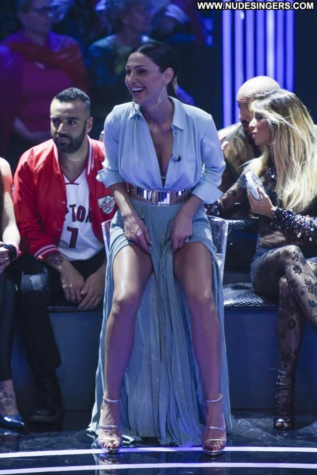 Anna Tatangelo Tv Show Singer Upskirt Tv Host Babe Wardrobe