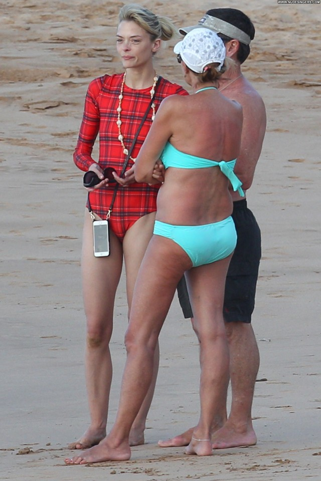 Jaime King No Source Posing Hot Babe Celebrity Swimsuit Beach Hawaii